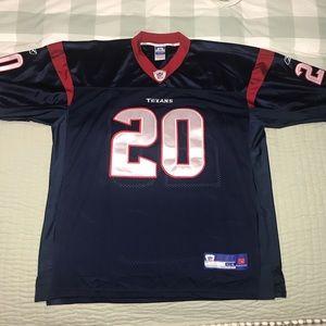 Super Steve Slaton Houston Texans Reebok Jersey